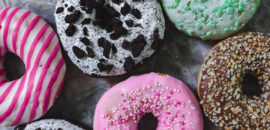 Funky colorful donuts